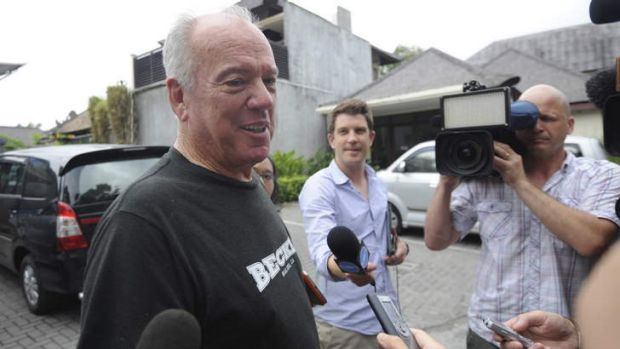 Insistent: Mike Willesee in Bali.