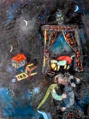 Marc Chagall's <I>Allegorical Scene</I>, one of the artworks previously confiscated from the Munich residence of ...