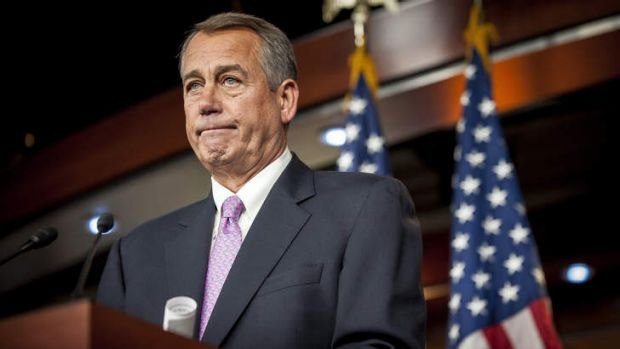 """""""This is a lost opportunity"""": US House Speaker John Boehner."""
