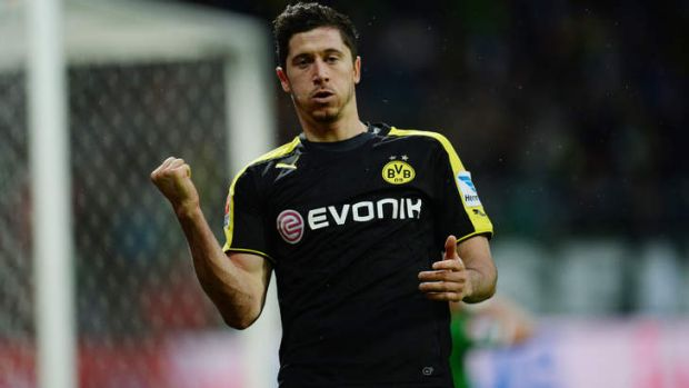 Victim: Robert Lewandowski.