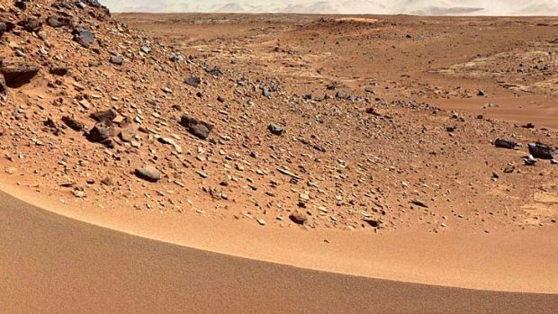 Mars: The Red Planet as seen from NASA's Curiosity rover.