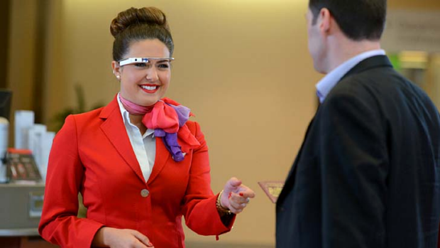 Google Glass will speed up check-ins but may also raise privacy concerns.