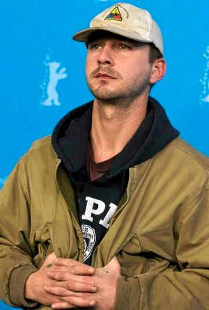 Shia LaBeouf during a photocall for the Berlinale Film Festival.