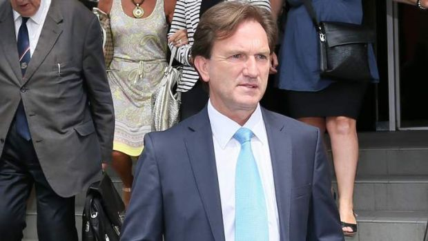 Paid back the money: Former Hawthorn board member Greg Cook at the Ringwood court.