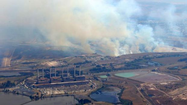 Fire near the town of Morwell.