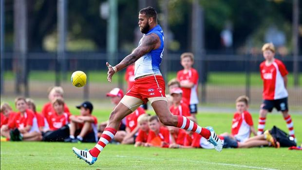 "Ready to go: Lance ""Buddy"" Franklin."