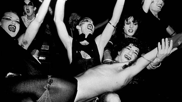 Outrageous: Sylvia and the Synthetics, photographed in the 1970s.