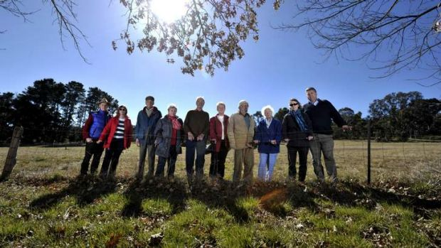 Local residents near Stirling Park in Yarralumla unhappy about the NCA proposal for embassies to be built on the land, ...