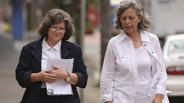 Mrs Zimmerman's daughters, Michelle Zimmerman, left, and Adele Zimmerman, outside the NSW Coroner's Court in Glebe.