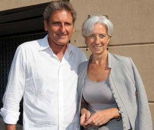 French flair ... Lagarde with her partner Xavier Giocanti.