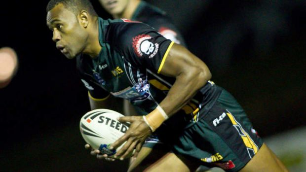 On the prowl: Penrith recruit Eto Nabuli.