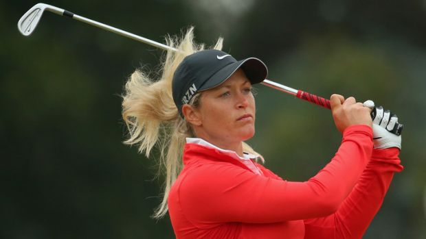 Norway's Suzann Pettersen sets the pace at the Australian Open.