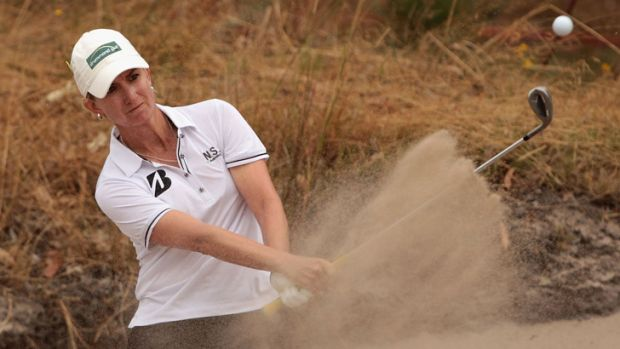 Millimetres out... Karrie Webb.