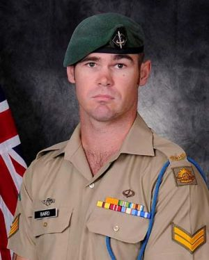 Courageous: Corporal Baird drew fire away from his mates.