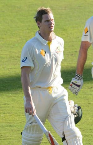 A tough innings: Steve Smith.