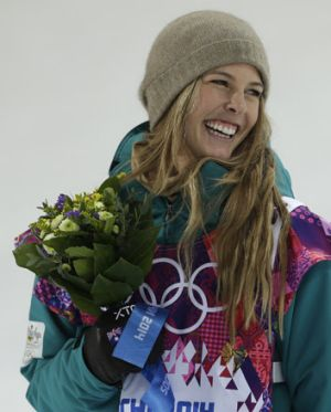 So close: Torah Bright finished just 0.25 points behind American gold medallist Kaitlyn Farrington.