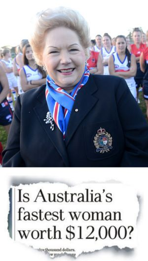 Susan Alberti (top) was moved to act after reading Michael Gleeson's story in <i>The Age</i> (below).