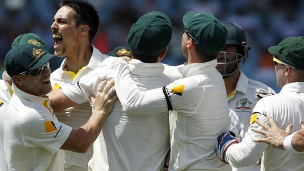 Mitchell Johnson: continued his destructive form.