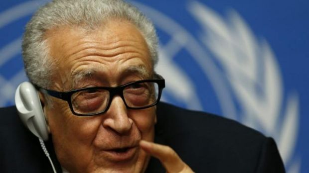 Staring at failure: Syria peace talks negotiator Lakhdar Brahimi.