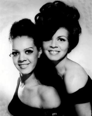 Laurel Robinson (left) and her sister Lois Peeler, the Sapphires, in the 1960s.