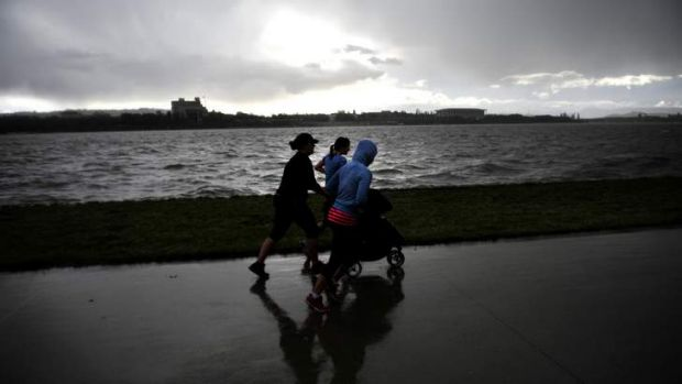 A wet and stormy afternoon in Canberra,