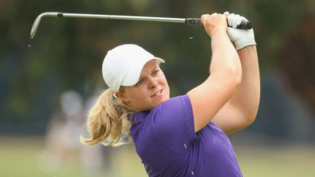 Ice cool: Sweden's Caroline Hedwall surged to the lead on Friday after shooting a 65 that included a hole in one.