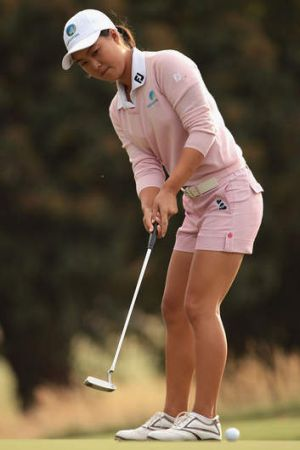 Having a ball: Minjee Lee.