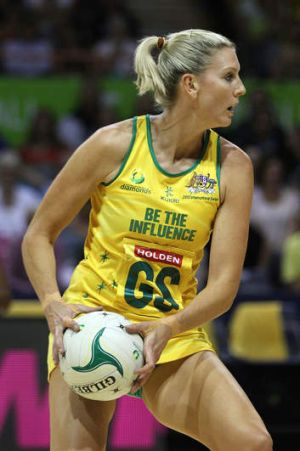 Star shooter Catherine Cox in action for Australia in 2012.