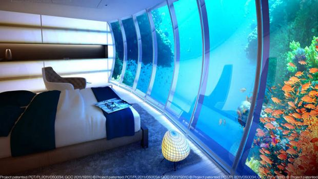 European company Deep Ocean Technologies has proposed a Discus Hotel for the Great Barrier Reef.