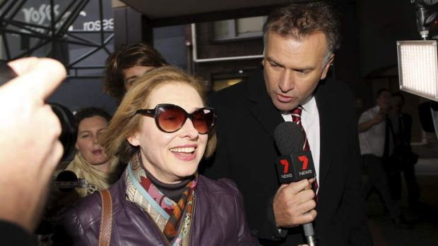 Early skirmish: Gai Waterhouse arrives at Racing NSW headquarters for the More Joyous inquiry last year.