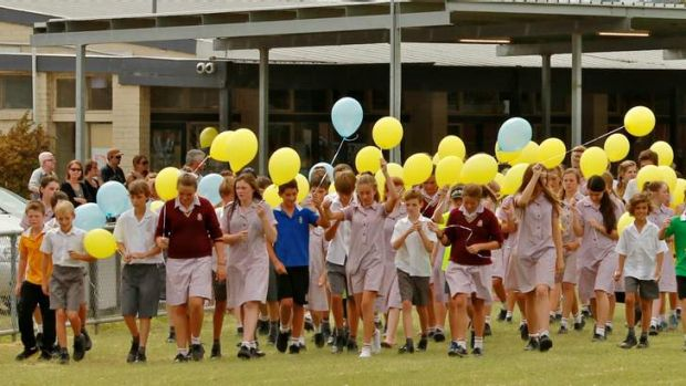Tributes to Luke Batty grew at the Tyabb recreation reserve, including a balloon release by schoolmates.