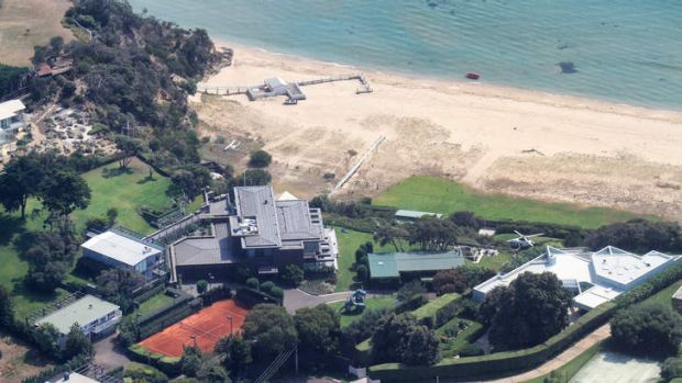 Aerial photo of Lindsay Fox property at Portsea.