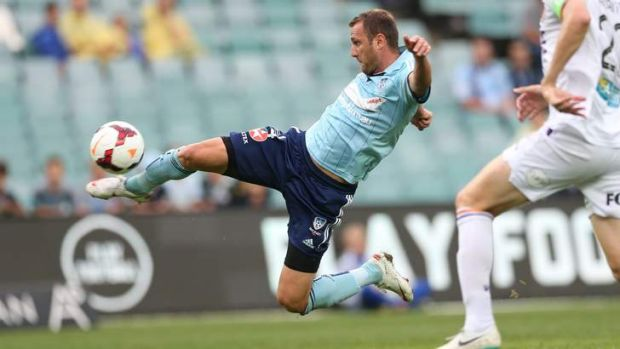 Crucial snap: Ranko Despotovic pounces to score his sixth goal of the season in Sydney FC's win over Perth Glory at ...