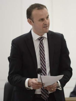 ACT sports minister Andrew Barr.