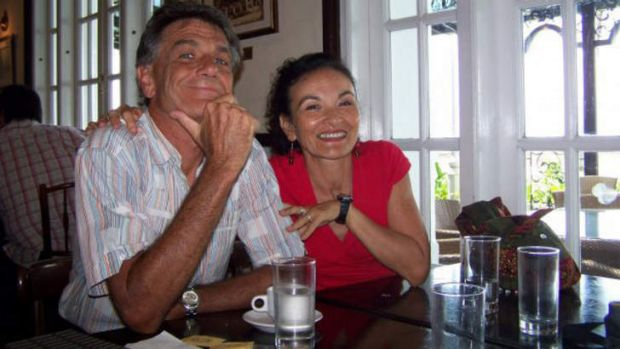 Mystery: Gerry Goeden with missing woman Carmel Brookes in Penang.