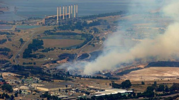 The fire in Morwell and Hazelwood power station.