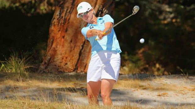Out of the woods: Karrie Webb, five behind at the start of play, storms home to win the Women's Australian Open by a shot.