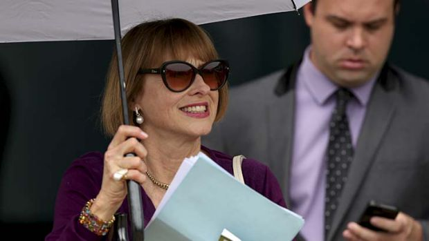 Forever loved: Gai Waterhouse was all smiles at Rosehill on Saturday.