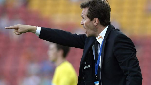 Unhappy about Japanese ref exchange: Brisbane Roar coach Mike Mulvey.