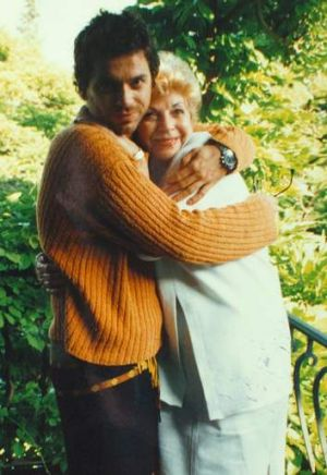 Loving times: Michael Hutchence and mother Patrica Glassop in southern France.