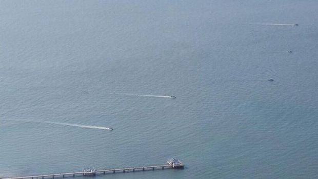 A search resumes for a jet skier missing off Redcliffe.