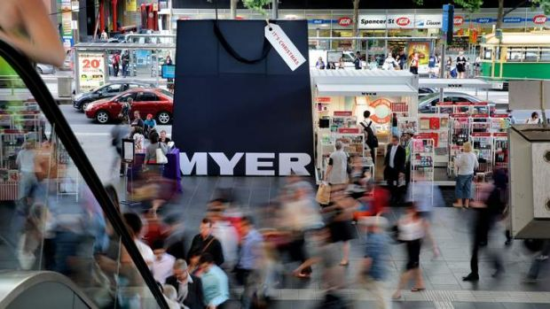 Myer says the refurbishment of three stores partly accounted for the falls.