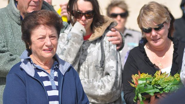 The mother of shark victim Kyle Burden, Sharon (far right), has lodged court action against WA government's shark cull.