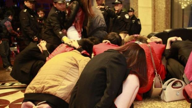 Sixty-seven people were arrested and 12 entertainment venues were shut down in raids earlier this month after China ...