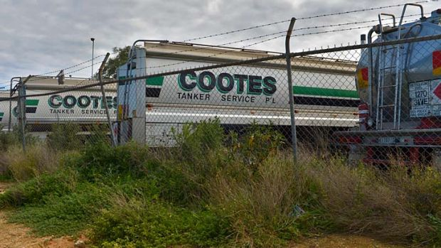 Cootes tankers at their Spotswood depot in Victoria.
