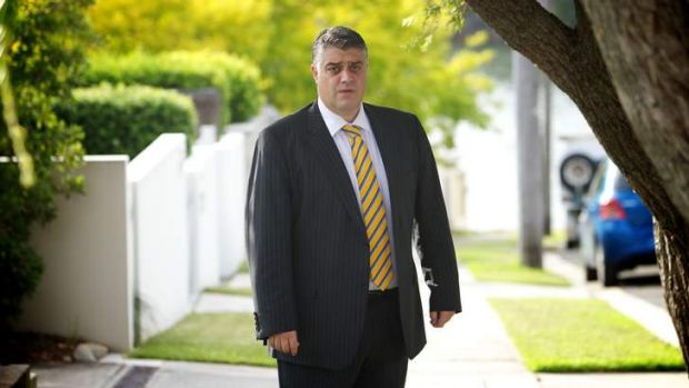 Nicholas Anthony Di Girolamo from Australian Water Holdings, outside his home in Sydney.