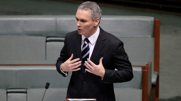 Craig Thomson makes a statement to the House of Representatives at Parliament House Canberra in May 2012 that is now ...