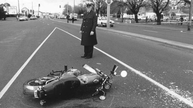 A victim's motorcycle.
