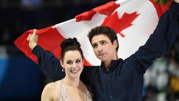 Unhappy with silver ... Canada's ice dancers Scott Moir and Tessa Virtue confronted Russian coach Marina Zoueva about ...