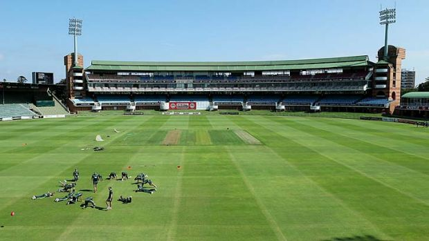 Spot the strip: The greentop at St Georges Park, Port Elizabeth.